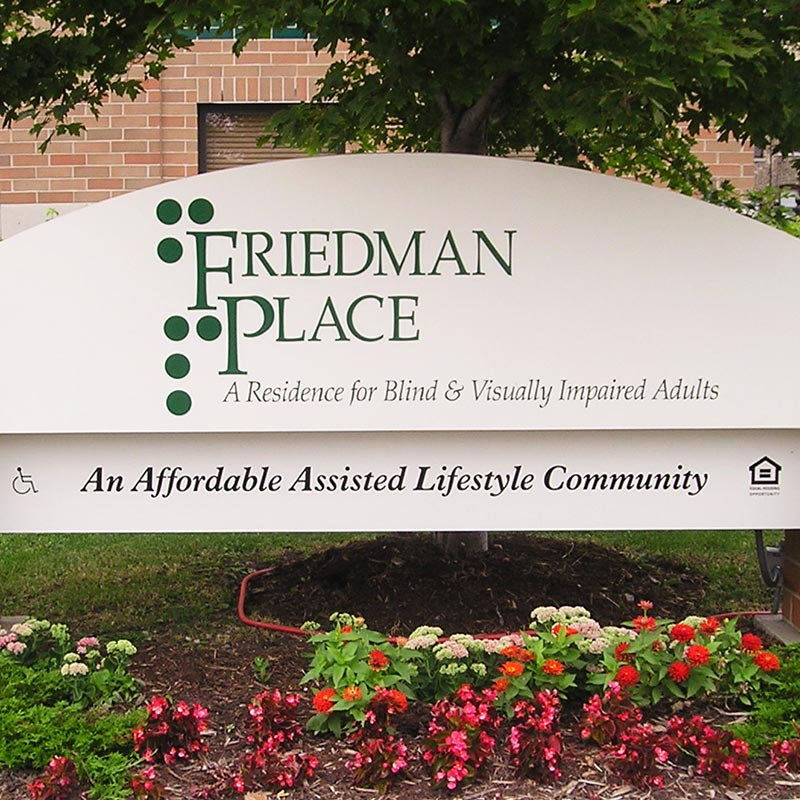 Friedman Place sign