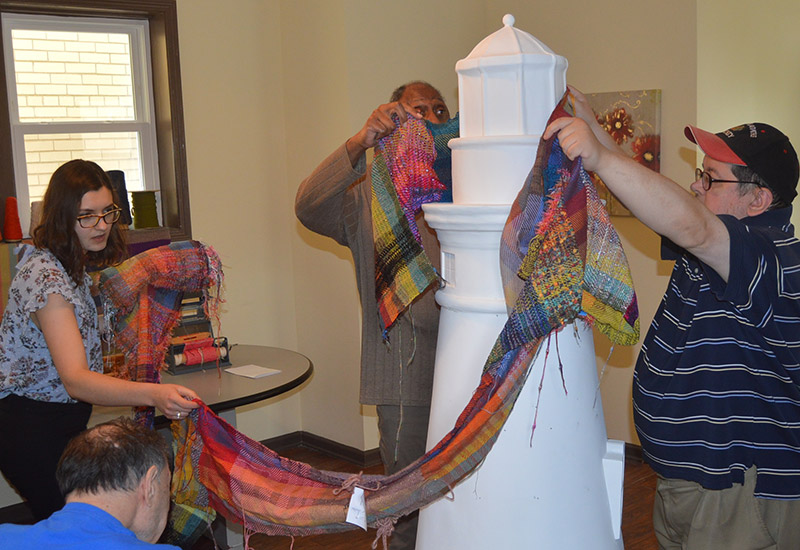 FP Lighthouse wrapping with fabric