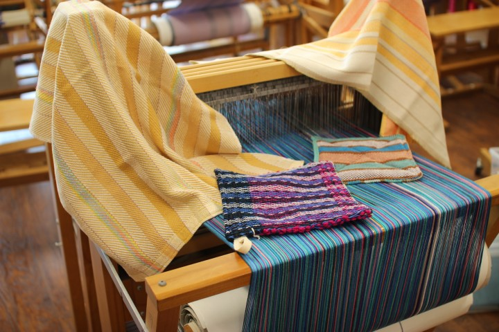 weaving project on a loom
